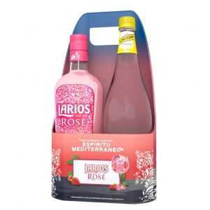 Ginebra larios rose 70 cl + tonica 1l on pack