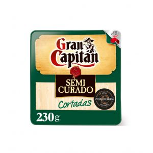 Queso semicurado gran capitán cortadas cuña 210g