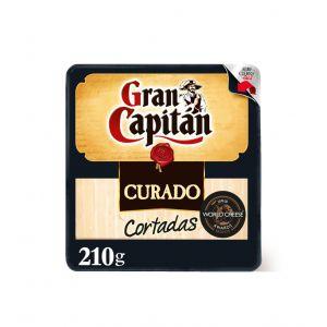 Queso curado gran capitán cortadas cuña 210g