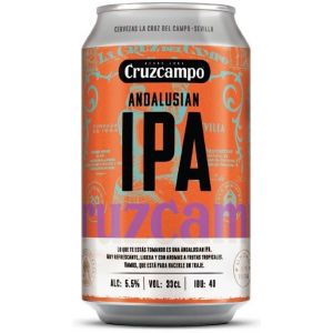 Cerveza andalusian ipa c cruzcampo lata 33cl