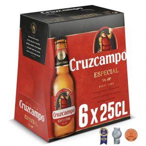 Cerveza especial cruzcampo p6x25cl
