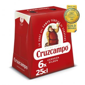 Cerveza cruzcampo p6x25cl