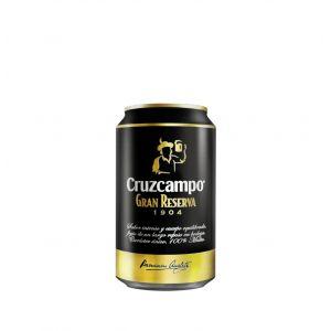Cerveza grab reserva  cruzcampo lata 33cl