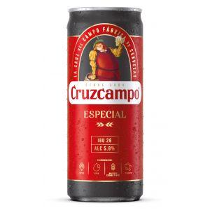 Cerveza especial cruzcampo lata 33cl