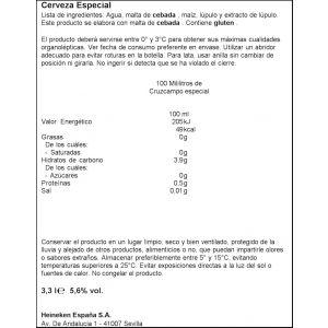 Cerveza especial cruzcampo lata p10 x 33cl
