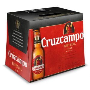 Cerveza cruzcampo especial botella pack de 12 unidades de 25cl