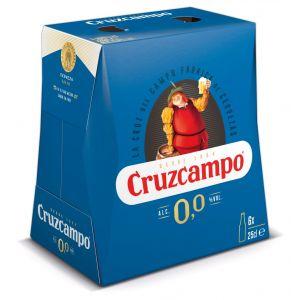Cerveza sin alcohol 0,0%  cruzcampo  p6x25cl