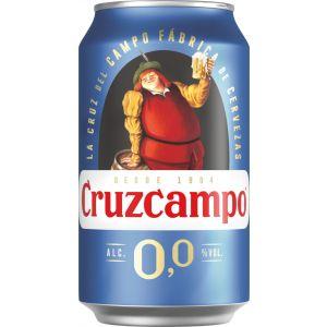 Cerveza sin alcohol 0,0%  cruzcampo lata 33cl