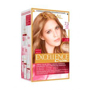 Coloración excellence rubio dorado 7.3 l'oréal paris