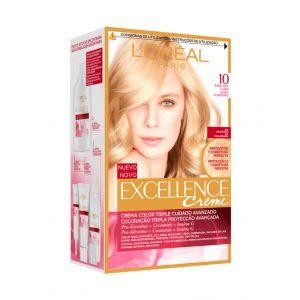 Coloración excellence rubio clarísimo 10 l'oréal paris