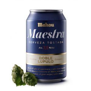Cerveza maestra mahou lata 33cl