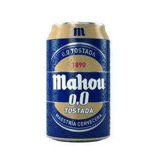 Cerveza tostada mahou 0,0% lata 33cl
