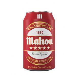 Cerveza 5 estrellas mahou lata 33cl