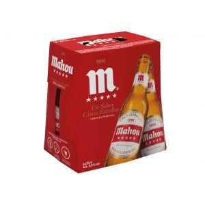 Cerveza 5 estrellas mahou  p6x25cl