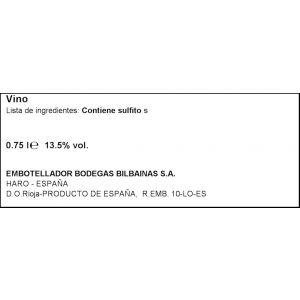 Vino rioja tinto ederra crianza 75cl