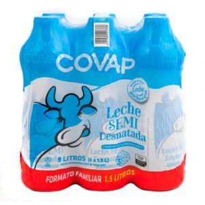 Leche semidesnatada covap botella 1,5l