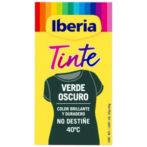 Tinte textil especial verde iberia