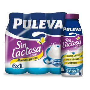 Leche mañanas sin lactosa entera puleva botella 1l