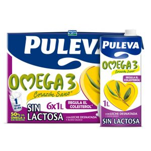 Leche sin lactosa omega3 puleva brick 1l
