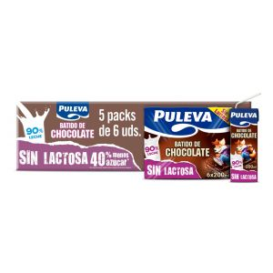 Batido sin lactosa cacao puleva p6x200ml