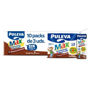 Leche cacao cereale puleva max p3x200ml