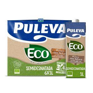 Leche ecologico semidesnatada puleva brick 1l