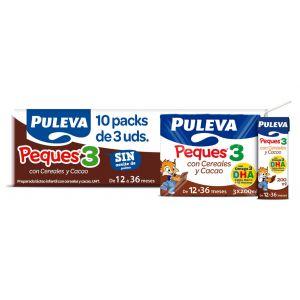 Leche crec peques3 cereal cacao puleva  p3x200ml