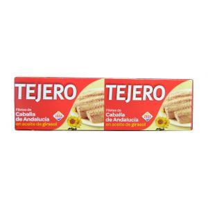 Filete de caballa en aceite de girasol tejero pack de 2 unidades