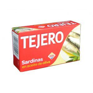 Sardinas en aceite de oliva tejero