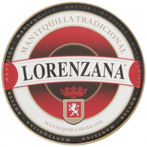 Mantequilla sin sal lorenzana lata 250g