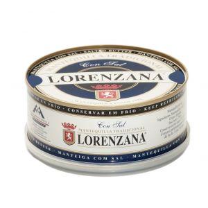 Mantequilla con sal lorenzana lata 250g