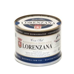 Mantequilla con sal lorenzana lata 500g