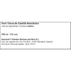 Vino blanco semidulce v.t. castilla faustino rivero 75cl