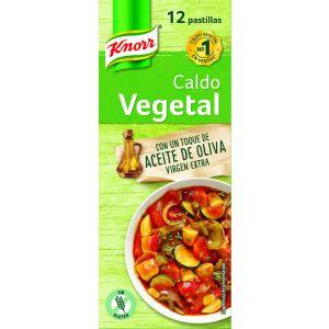 Caldo de vegetal aceite de oliva knorr 12 pastillas