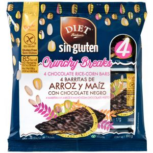 Barrita arroz/maiz choco negro s/gluten diet