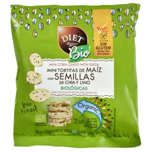Mini tortitas maiz chia bio diet 50gr