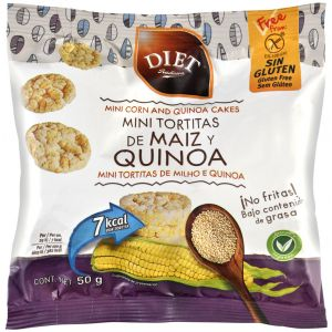 Tortitas sin gluten de maiz y quinoa diet