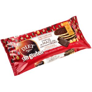 Tortitas de maiz de chocolate negro diet 125g