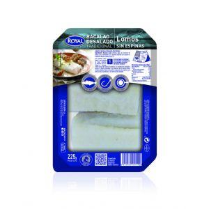 Gadus morhua cod loin without salt royal 225 gr