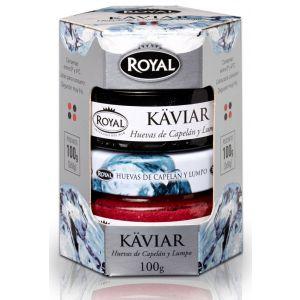 Huevas lumpo rojas y negras royal tarro 2x50g
