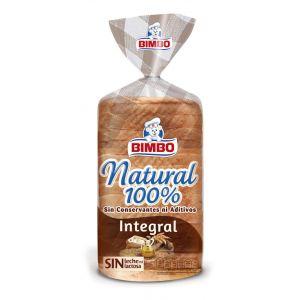 Pan molde natural 100%integral bimbo   450g
