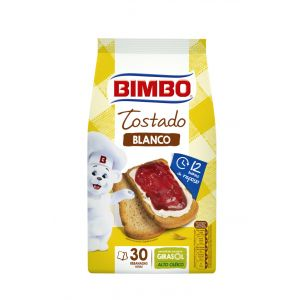 Pan  tostado normal bimbo 30rb 270g