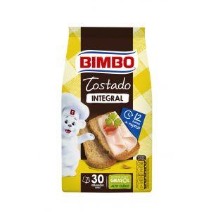 Pan tostado integral 100% bimbo 270g