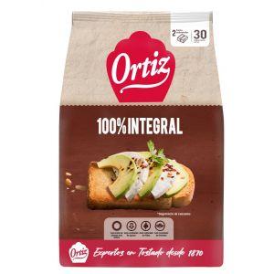 Pan tostado a la brasa integral 100% ortiz 324g