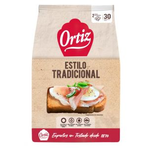 Pan tostado a la brasa ortiz 30rb 270g