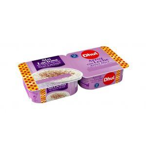 Arroz con leche sin lactosa dhul p2x130g