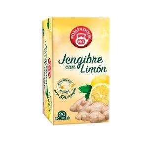 Infusion jengibre con limon pompadour 20 sobres