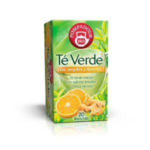 Te verde con jengibre y naranja pompadour 20 sobres