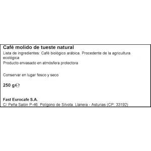 Cafe molido arabica bio oquendo 250g