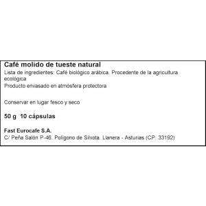 Cafe en capsulas ecologico biodegrand oquendo 10 capsulas